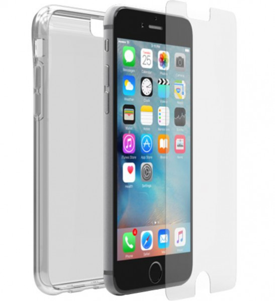 OtterBox Clearly protected Clear Skin backcover + Alpha Glass screenprotector voor Apple Iphone 6s -