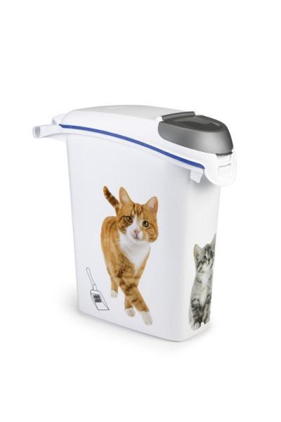 Koopjeshoek - Curver Kattengrintcontainer - Kattenprint - Wit - 23L