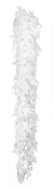 Boa - Glamour - 50 g - 180 cm - Wit met Zilver