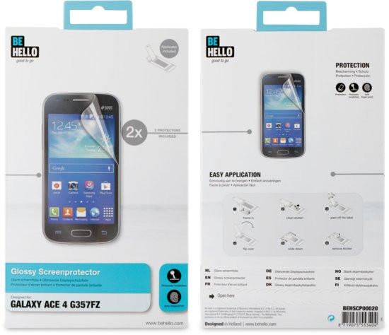 BeHello Screenprotector voor Samsung Galaxy Ace 4 - Glanzend Transparant (2 stuks)