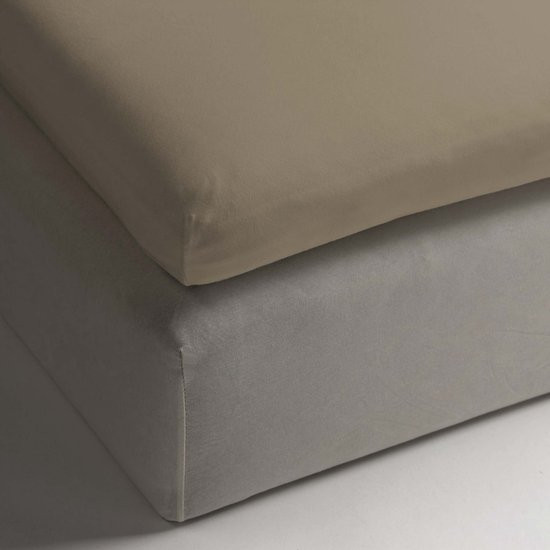 HnL Living - Hoeslaken - Topper - Katoen Perkal - 100 x 200 cm - Goud