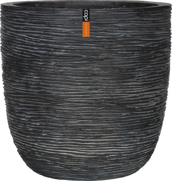 Pot bol rib II 35x34 - zwart