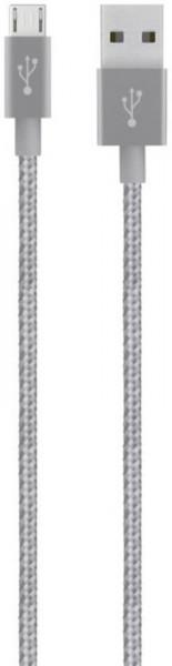 Belkin MIXIT Metallic Micro-USB naar USB Kabel - 1.2 meter - Grijs