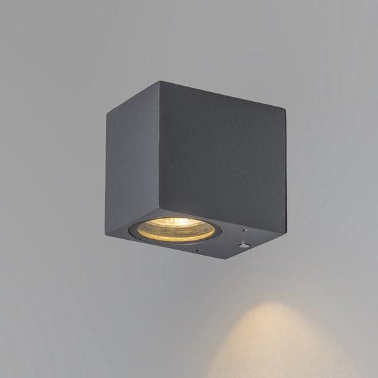 QAZQA Baleno I - Wandlamp - 1 lichts - 65 mm - antraciet