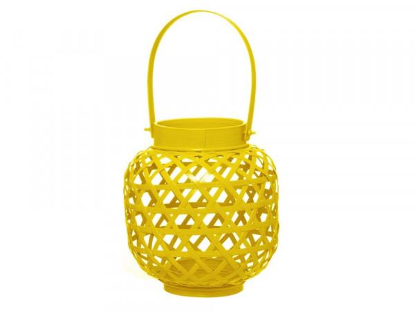 Bamboo Design Lantaarn - Geel