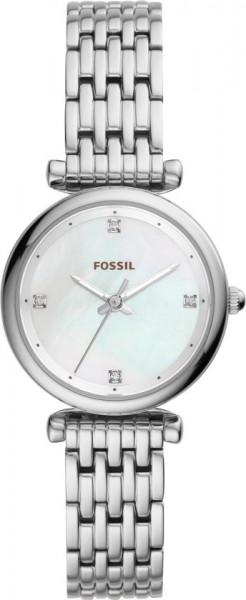 Fossil Carlie Dameshorloge ES4430 - Ø 29 mm Staal Mineraalglas