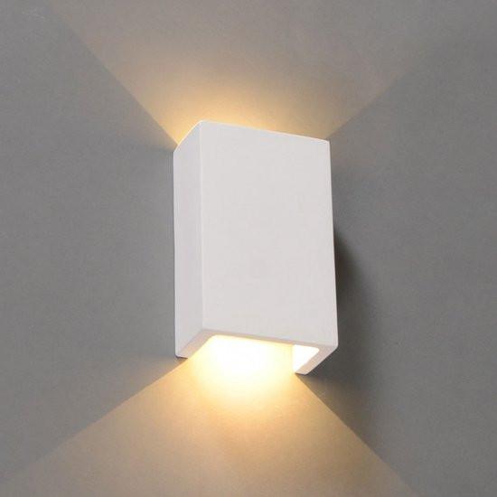 QAZQA Gipsy Meaux S - Wandlamp - 2 lichts - 100 mm - wit