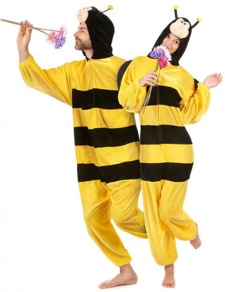 Onesie Volwassenenkostuum - Pluche Honingbij - Kostuum - Maat XL
