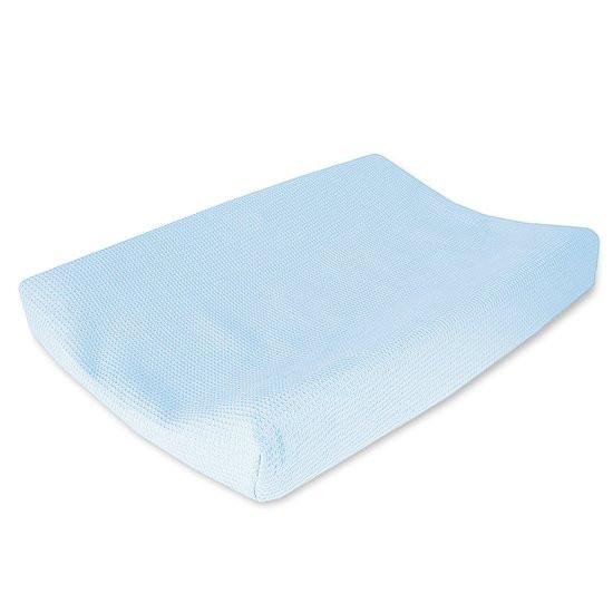 Cottonbaby Wafel - Aankleedkussenhoes - Lichtblauw
