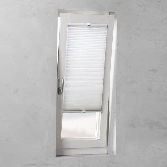 Pure Living - Plisse met zijgeleiding lichtdoorlatend - honingraat Snow White - 70x130 cm