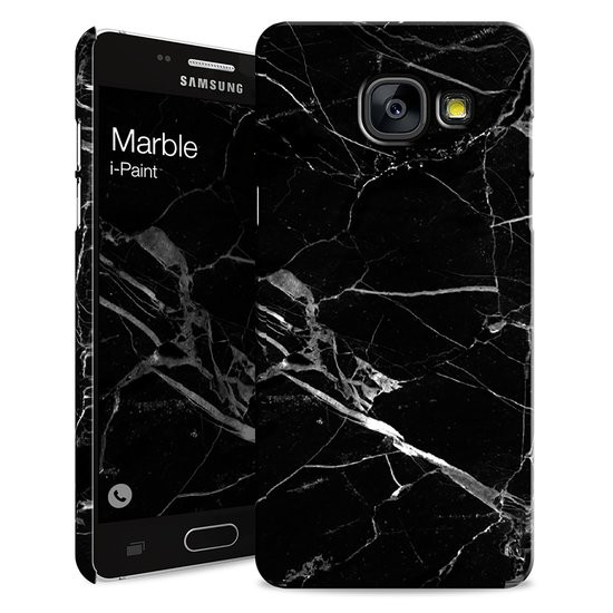 i-Paint cover Marble - zwart - voor Samsung A3 2017