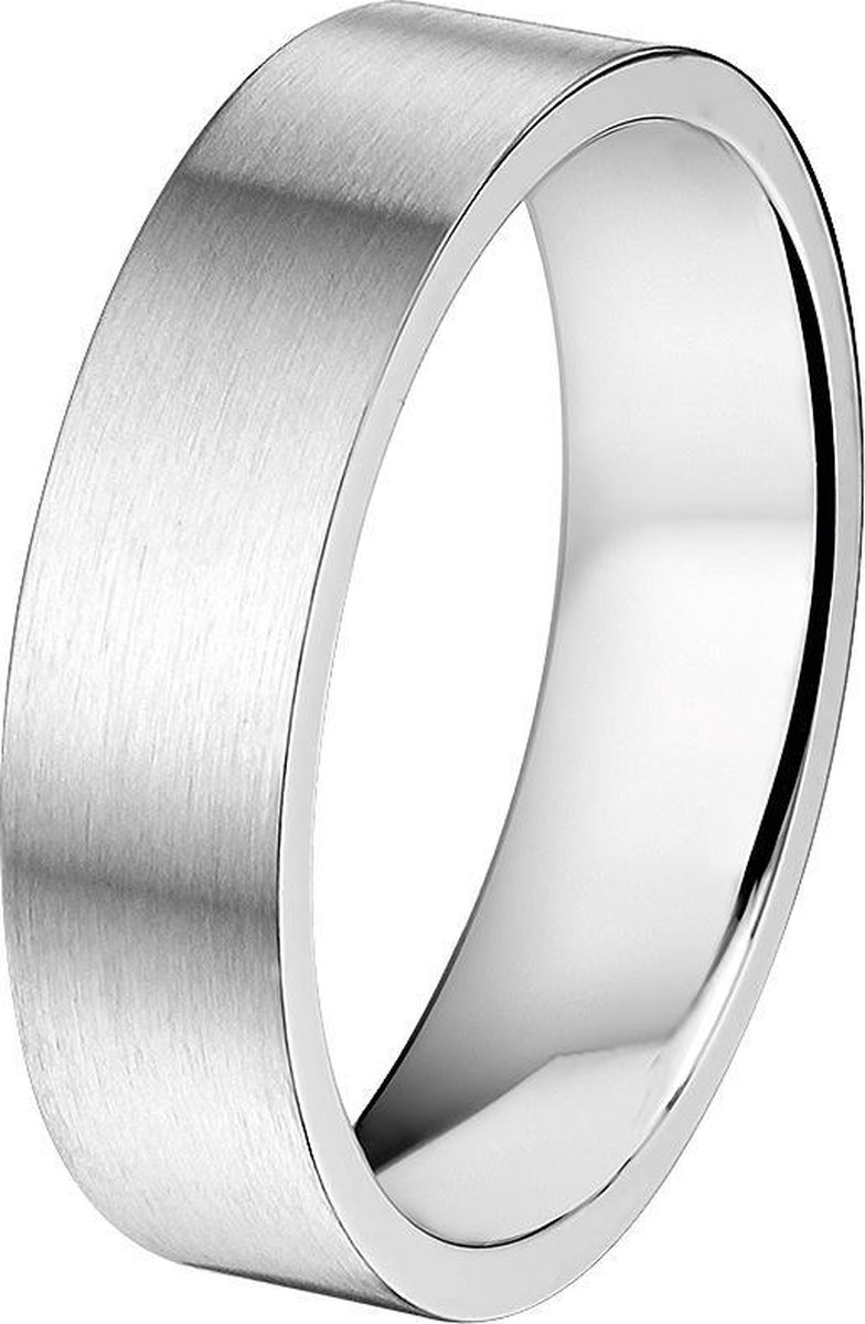 The Jewelry Collection Ring A508 6 mm- Staal - Maat 17.50