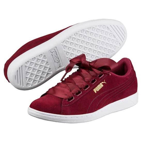 PUMA Vikky Ribbon 364262 03 - Sneakers - Dames - Tibetan Red-Tibetan Red - Maat 38.5
