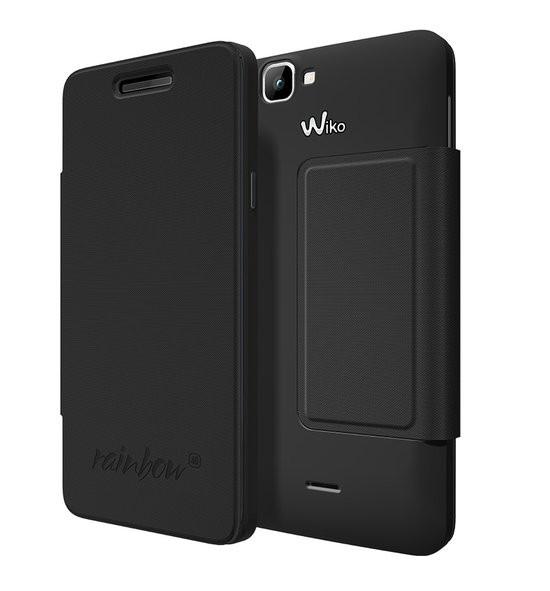 Wiko booklet tasje - zwart - Wiko Rainbow 4G