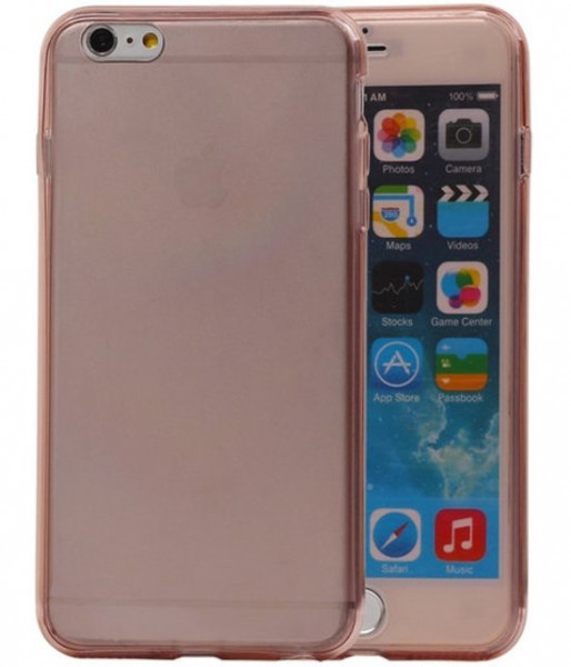 Koopjeshoek -Transparant Roze Voor en Achter TPU Hoesje Apple iPhone 6/6s Plus