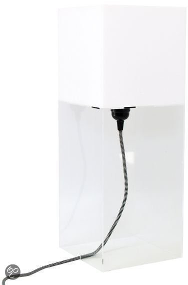 Plexi table lamp L - Wit