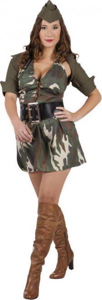 Soldaat Vrouw - Kostuum - Maat 36-38
