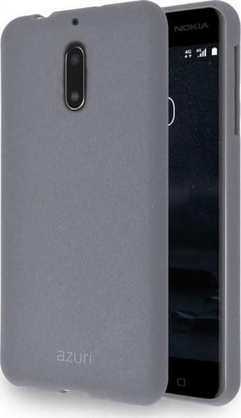 Azuri flexible cover met zand textuur voor Nokia 6 - Grijs