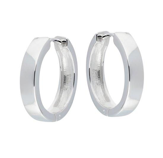 Silver Lining oorringen - 925 Zilver - Ø 14 mm