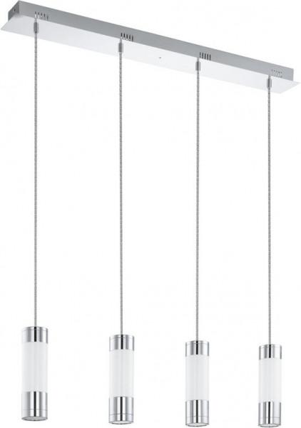 EGLO Fosforo - Hanglamp - 4 Lichts - Chroom - Wit