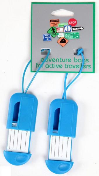 Adventure Bags - Kofferlabel - 2 Stuks - Blauw