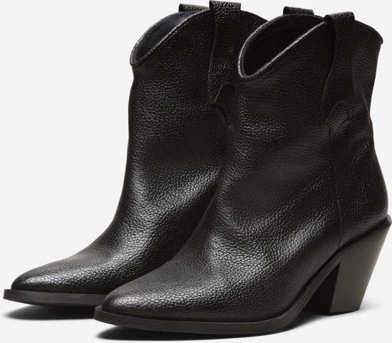 Selected Femme Dames Cowboylaarzen - Black - Maat 36