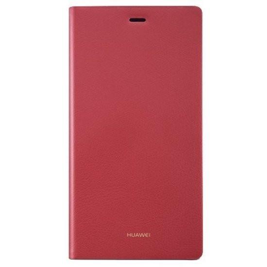 Huawei flipcover leder voor Huawei P8 Lite - rood