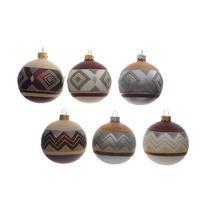 incompleet -Glazen kerstballen (set van 5)