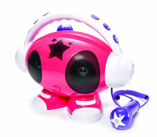 Koopjeshoek- Karaoke Robot met 2 microfoons - usb aansluiting en voice recording via SD kaart