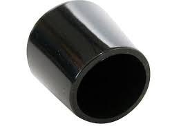 QlinQ Pootdop 32mm 4 stuks omsteek zwart rond