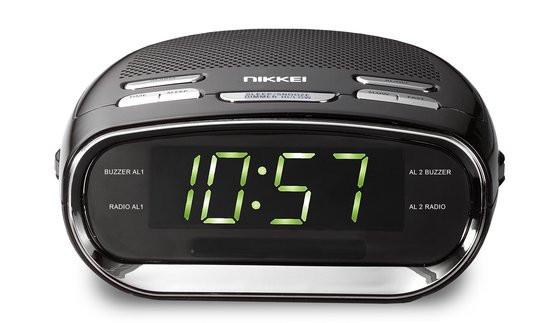 Nikkei NR151D - Klokradio met dubbele wektijd en snooze