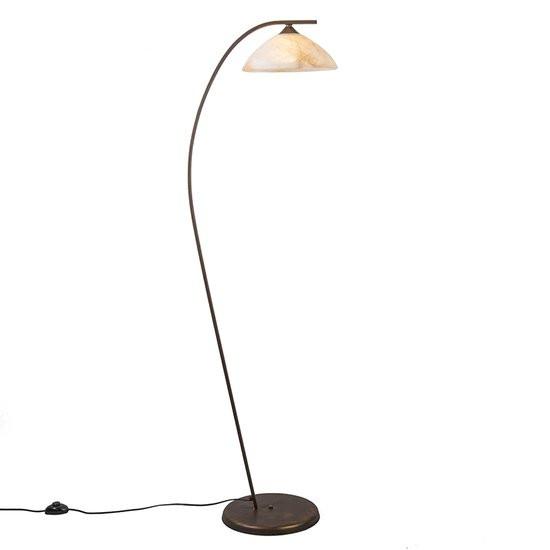 incompleet - QAZQA Scorze 1 - Vloerlamp - 1 Lichts - 47 cm - bruin