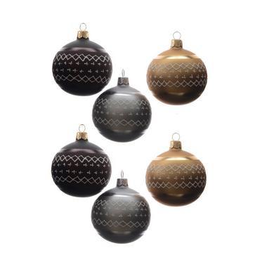Christmas Decorations - Glazen kerstballen (Ø8 cm) (set van 6)