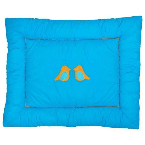 Jollein - Little Naturals - Organic Birdy Boxkleed - Turquoise / Oranje
