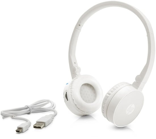 HP H7000 witte draadloze Bluetooth-headset