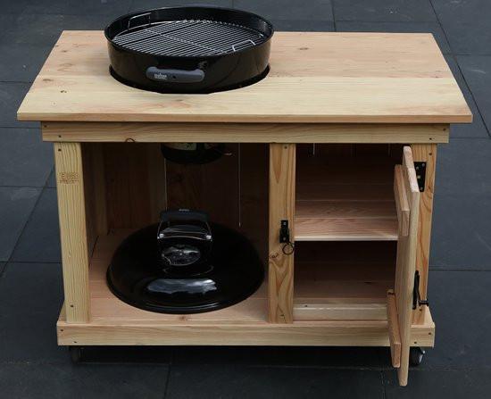 Deco BBQ meubel met enkele deur voor Weber 47CM