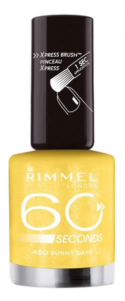 Rimmel 60 Seconds Finish - 450 Mimosa - Geel - Nagellak