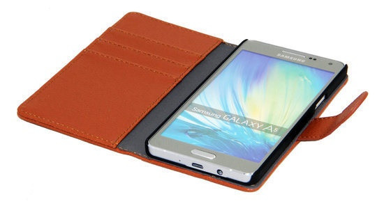 Gecko Covers Robuuste Wallet cover voor Samsung Galaxy A5 - bruin