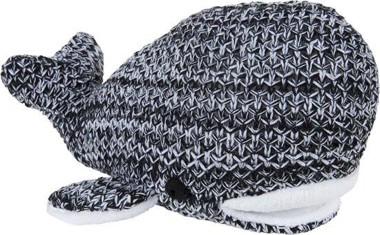 Baby's Only knuffel Walvis River zwart-wit