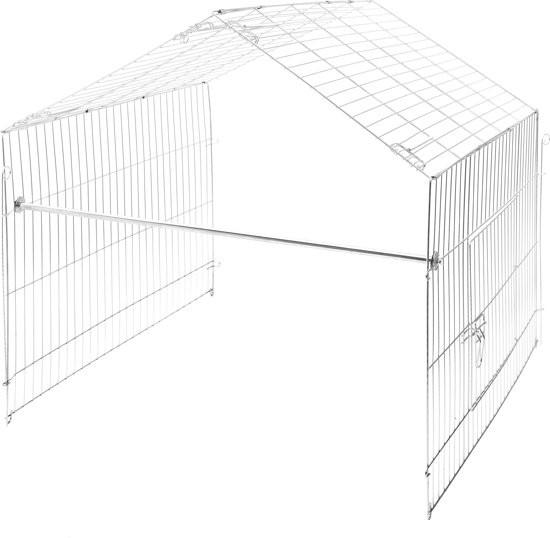 Kerbl Uitloopren - Uitbreidingsset voor Kerbl Konijnenhok - 110 x 103 x 103 cm
