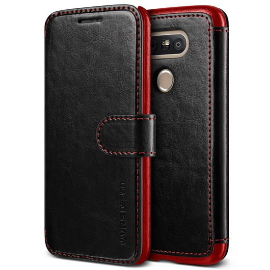 VRS DESIGN Layered Dandy leather case LG G5 - Black/Wine