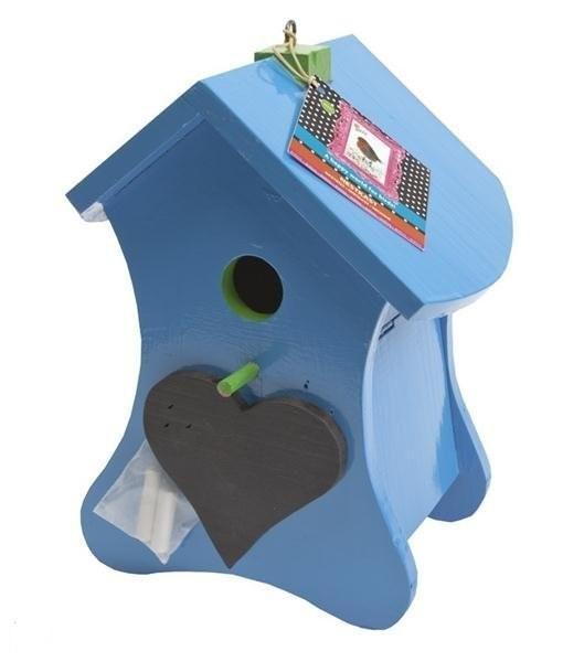 Buzzy Birds Nestkast - Vogelhuisje Krijt - Blauw