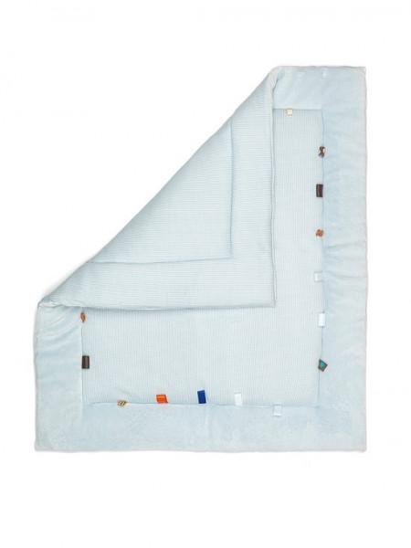 Snoozebaby - speelkleed/boxkleed Cheerful Playing (85x105cm) - Fading Blue