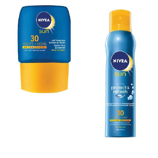 Combiverpakking - Nivea Sun Protect & Refresh Zonnebrandspray & NIVEA Sun Pocket Size - 50 m