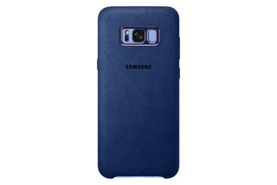 Samsung Galaxy S8+ Alcantara Cover - Blauw