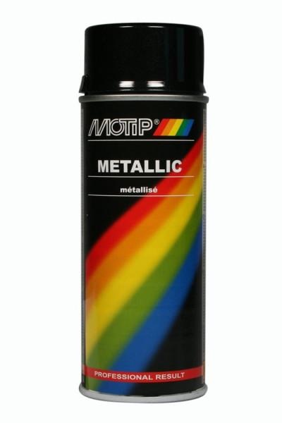 MoTip metallic lak hoogglans zwart 4049 - 400ml - RAL 9005