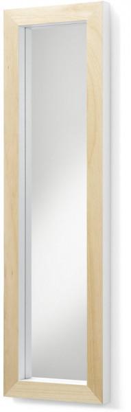 LaForma Drop Spiegel 98x28cm - Frame Blank Hout - Wit