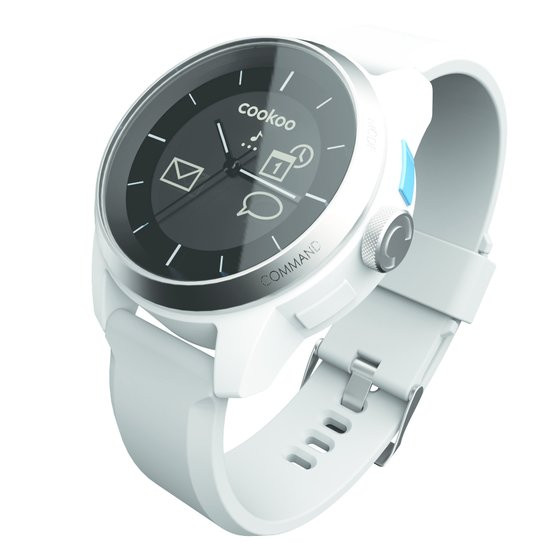 Cookoo Watch smartwatch - Wit met siliconen band