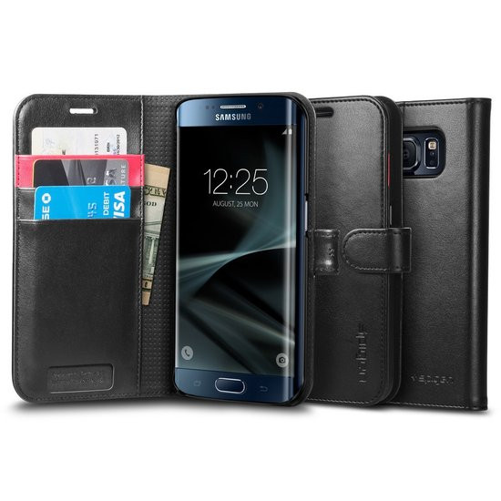 Spigen Wallet S for Galaxy S7 Edge black