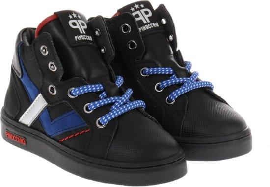 Pinocchio Hoge sneakers Jongens - Zwart - Maat 22